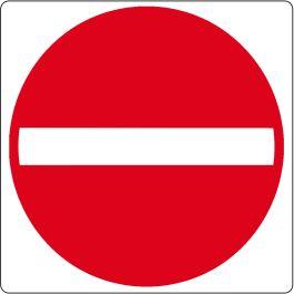 "Gulv-piktogram for ""Adgang forbudt"""