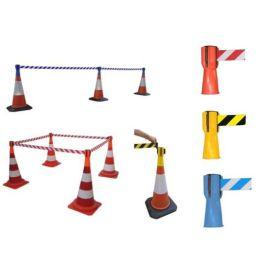 Spole med afmærkningsbånd til trafikkegle