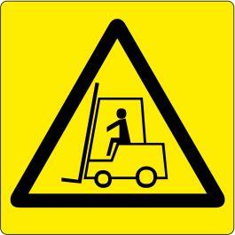 "Gulv-piktogram for ""Advarsel: Gaffeltruckområde"""
