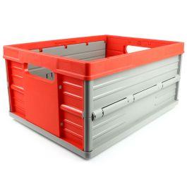 Sammenklappelig kasse - 32 liter - rød og grå