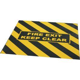 """FIRE EXIT KEEP CLEAR""-advarselstape til nødudgange"