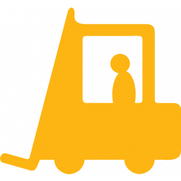 Gaffeltruck piktogram til markering af gulve, skridsikker