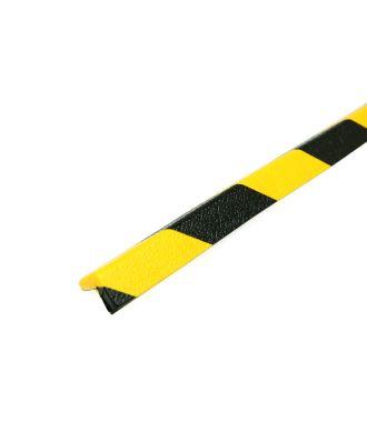 PRS hjørnebumper, model 45 - gul/sort - 1 meter