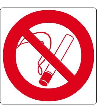 """Gulv-piktogram for """"Rygning forbudt"""""""