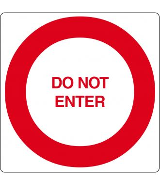 "Gulv-piktogram for ""Do Not Enter"""
