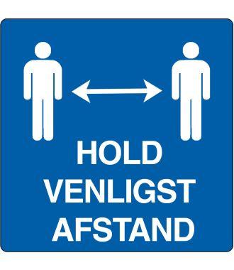 """Gulv-piktogram for """"Hold venligst afstand"""""""