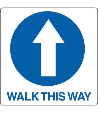 """Gulv-piktogram for """"Walk This Way"""""""