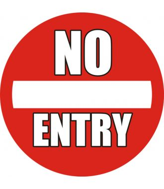 "Skridsikker gulv-piktogrammer: ""No Entry"""