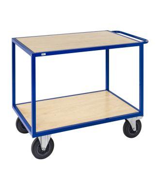 Kongamek bordvogn med træplatforme, lastkapacitet på 500 kg