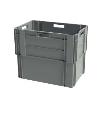 Euronorm Stabelbar Opbevaringskasse, 400x600x500 mm