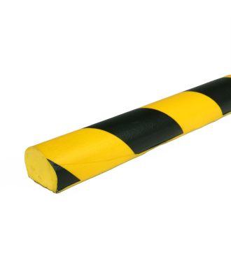 PRS bumper til flade overflader, model 3 - gul/sort - 1 meter