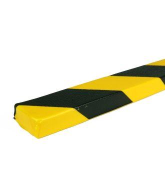 PRS bumper til flade overflader, model 43 - gul/sort - 1 meter