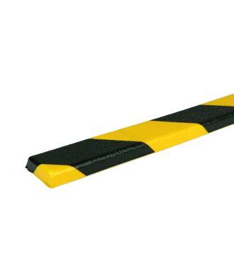 PRS bumper til flade overflader, model 44 - gul/sort - 1 meter