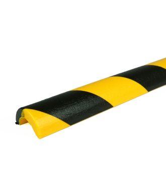 PRS bumper til rør, model 5 - gul/sort - 1 meter