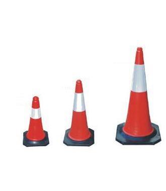 Rød/hvid trafikkegle - pylon