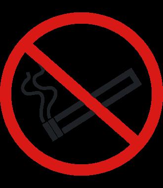"""Skridsikker gulv-piktogrammer: """"Rygning forbudt"""""""