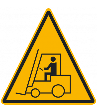 "Skridsikker gulv-piktogrammer: ""Advarsel: Gaffeltruckområde"""