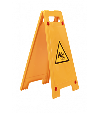 """Advarselsskilt """"vådt gulv"""" A-skilt"""