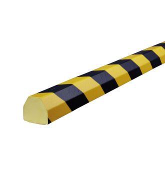 Knuffi stødfanger til flade overflader, type CC - gul/sort - 5 meter