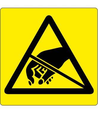 Gulv-piktogram advarsel om ESD-følsomme emner