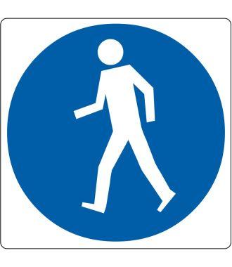 """Gulv-piktogram for """"Kun for fodgængere"""""""