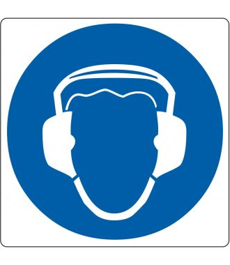 "Gulv-piktogram for ""Hørebeskyttelse er påkrævet"""