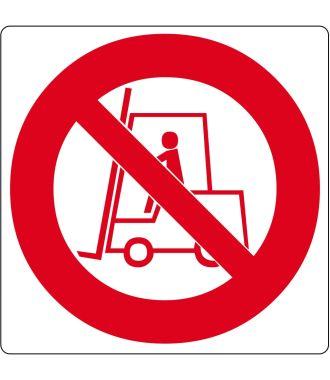 "Gulv-piktogram for ""Ingen adgang for gaffeltruck"""