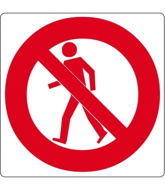 """Gulv-piktogram for """"Ingen adgang for fodgængere"""""""