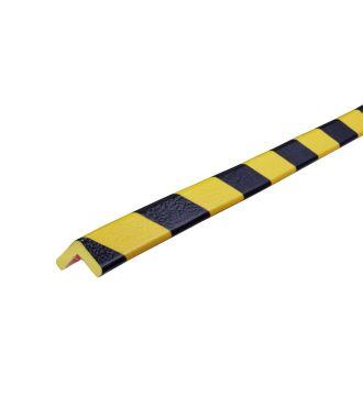 Knuffi stødfanger til hjørner, type E - gul/sort - 5 meter
