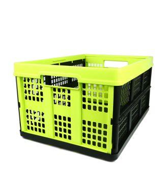 Sammenklappelig kasse - 46 liter - lime og sort