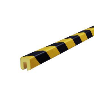 Knuffi stødfanger til kanter, type G - gul/sort - 5 meter