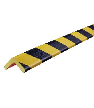 Knuffi stødfanger til hjørner, type H - gul/sort - 5 meter