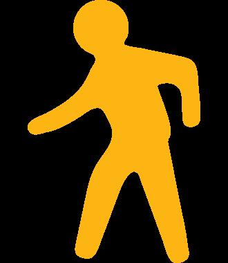 Fodgænger piktogram til markering af gulve, skridsikker