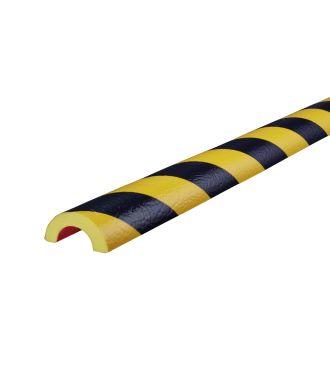 Knuffi stødfanger til rør, type R30 - gul/sort - 5 meter