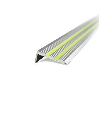 Aluminiums trappe-slingreprofil der gløder i mørket