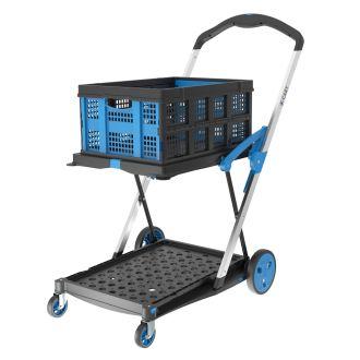 X-Cart sammenklappelig kassevogn + 1 foldekasse